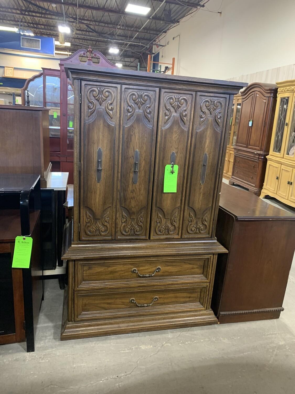 20th Century Spanish Renaissance Revival Oak Wood Dresser