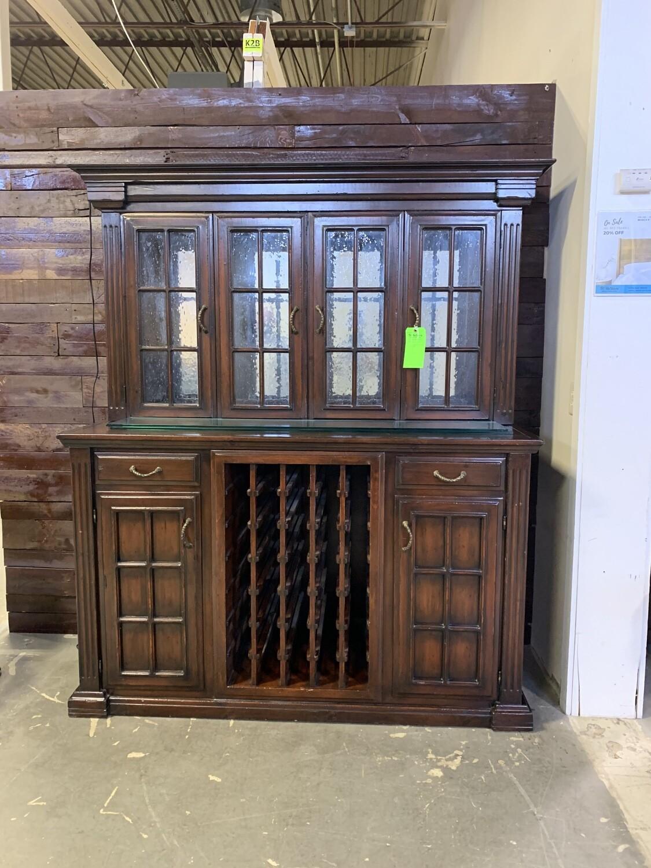 Dark Wood Wine Cabinet