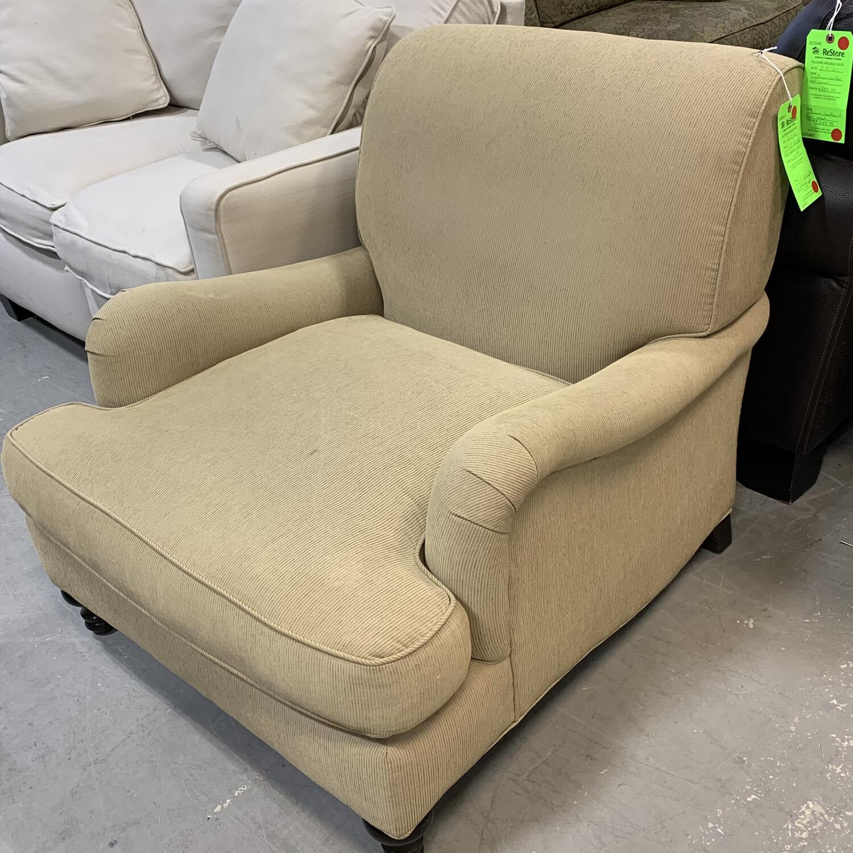 Restoration Hardware Beige Armchair