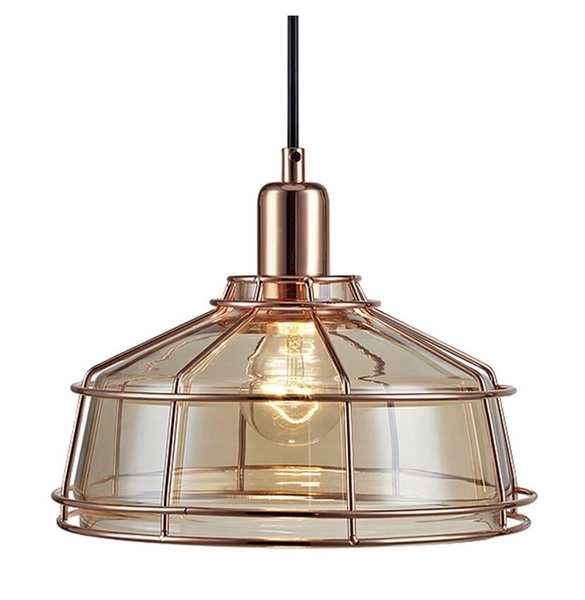 Presenza Mini Cage Pendant Lamp - Rose Gold