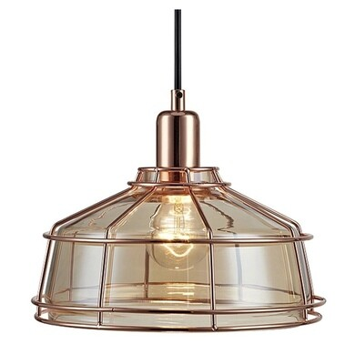 Presenza Mini Cage Pendant Lamp - Rose Gold