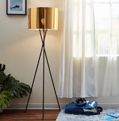 Cara Gold and Black Tripod Floor Lamp L0001
