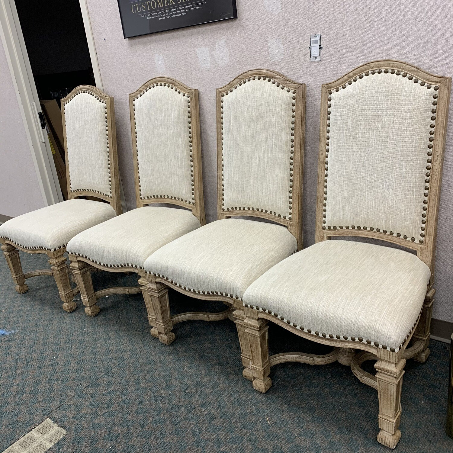 4 High back Side Chairs