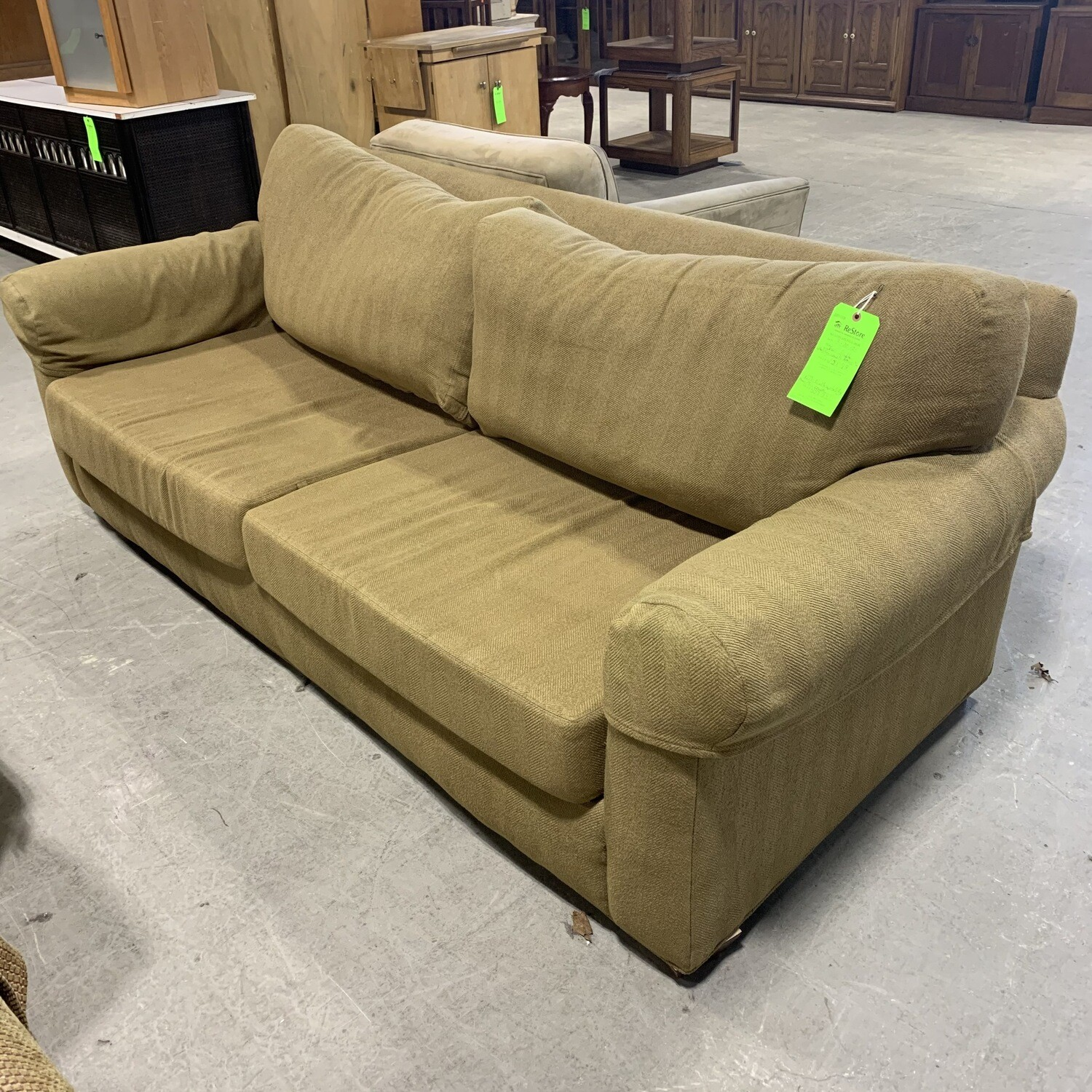 Earth Friendly Upholstery Couch Brown/Tan