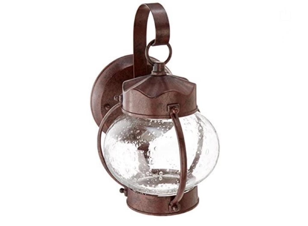 NUVO  One Light Outdoor Wall Mount, Small Onion Lantern, Old Bronze 60-631