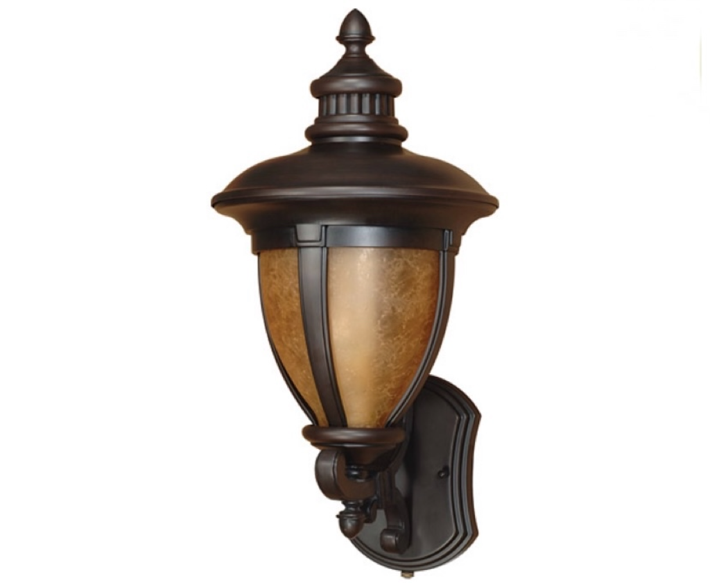 Nuvo Lighting  Galeon Collection One Light Energy Efficient Fluorescent Exterior Outdoor Wall Lantern in Old Penny Bronze Finish 60-2518