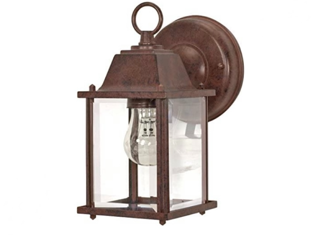 Nuvo  Old Cube Lantern with Clear Beveled Glass, with Old Bronze finish 60-637