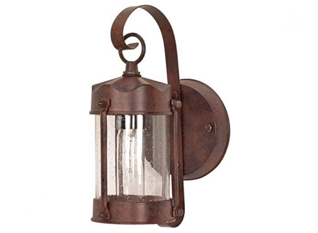 NUVO  One Light Outdoor Wall Mount, Small Piper Lantern, Old Bronze 60-634