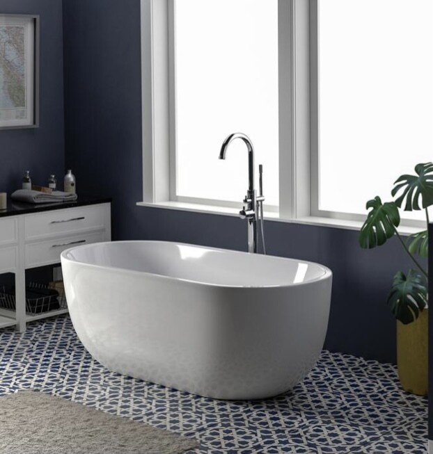 Penney Freestanding Acrylic Oval Tub 61""
