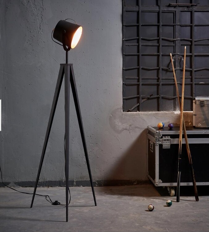 Artiste Tripod Floor Lamp with Shade - Black and Rose Gold Finish VN-L00021
