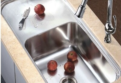 Dawn Single Bowl Sink with Work Surface