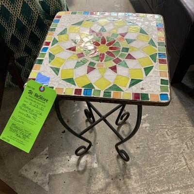 Mosaic Tile Side Table