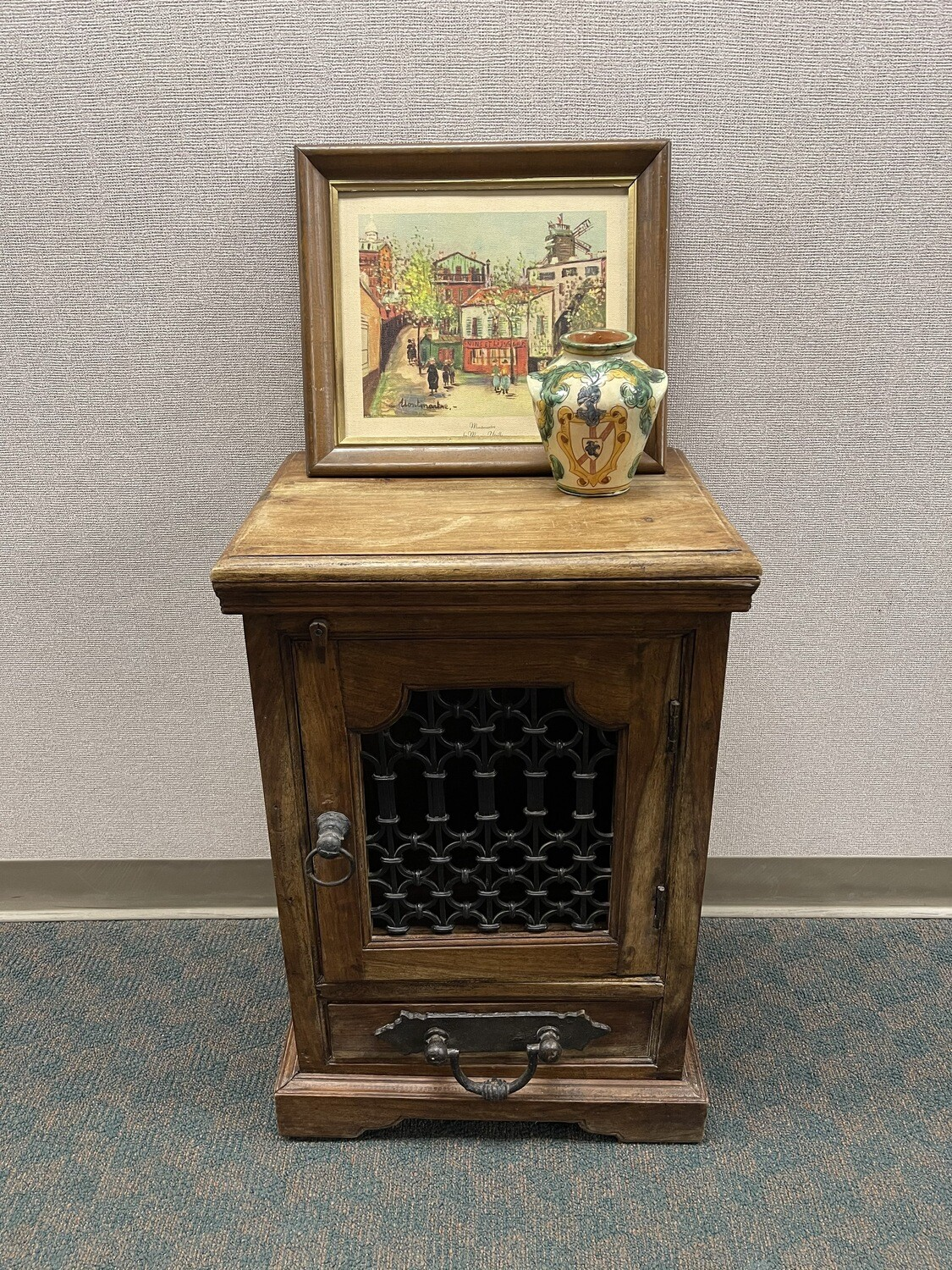 Jali Style Solid Wood Cabinet