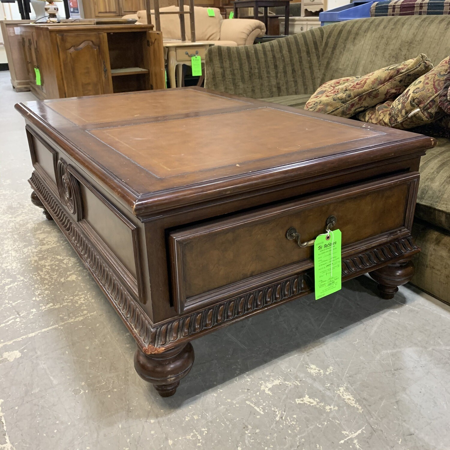 Ethan Allen 2 Drawer Coffee Table