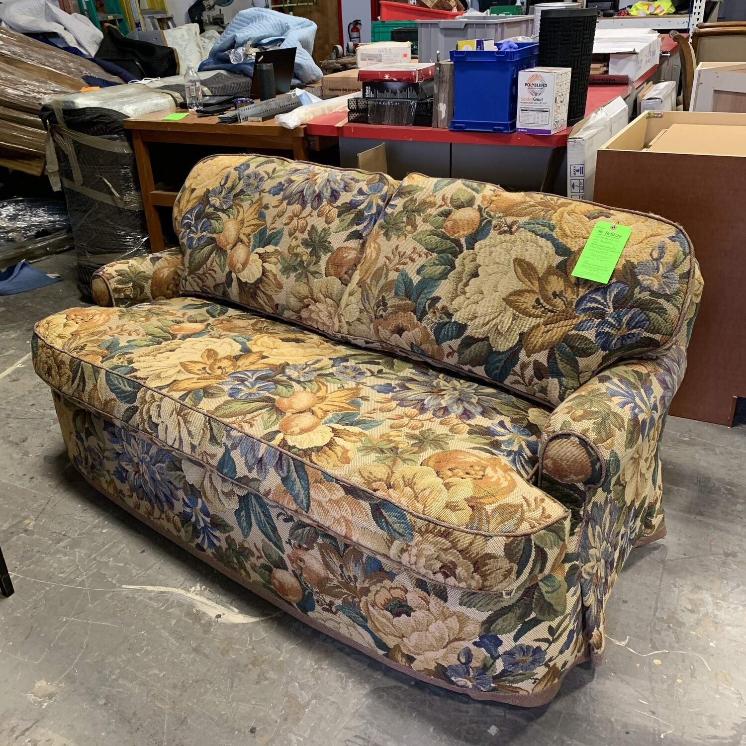 National Upholstery Co Floral Down Filled Loveseat