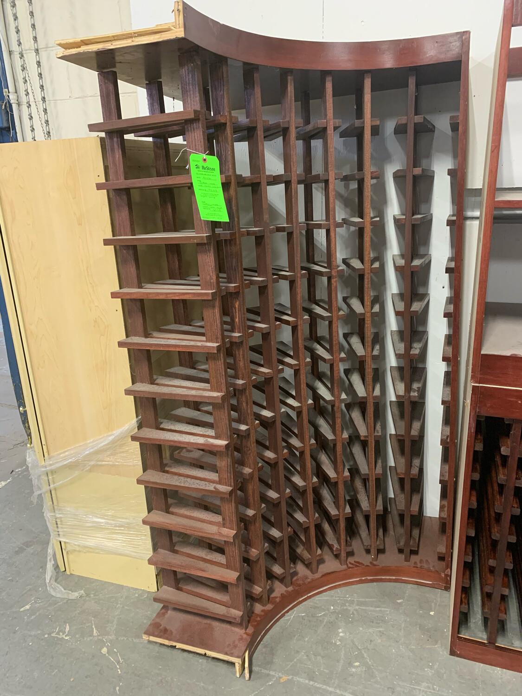 Custom Maple Wood Corner Rack (slightly damaged)