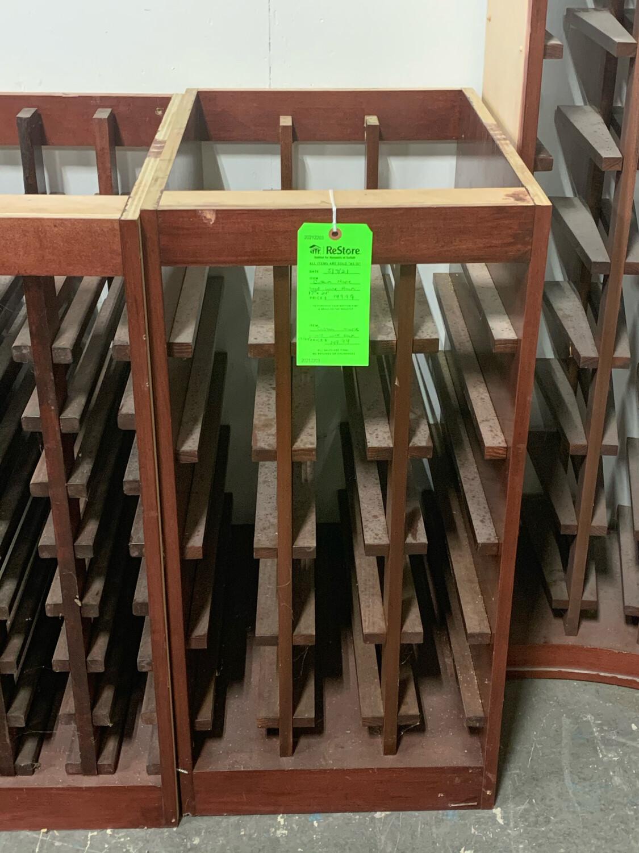 """Custom Maple Wood Wine Rack 17"""" X 24"""""""