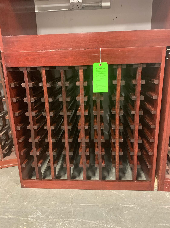 """Custom Maple Wood Wine Rack 34 3/4"""" X 24"""""""