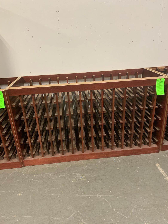 """Custom Maple Wood Wine Rack 61 1/2"""" X 24"""""""