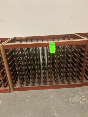 """Custom Maple Wood Wine Rack 49 1/2"""" X 24"""""""
