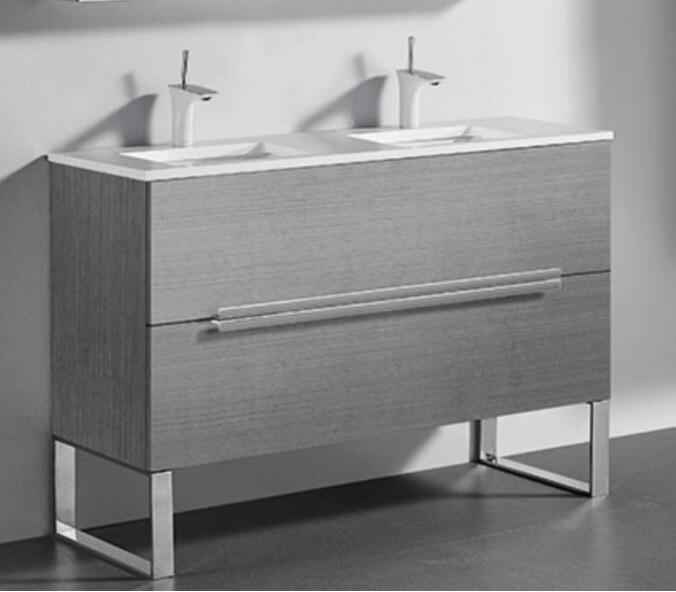"Madeli Functional Elegance Soho 60"" Ash Grey Single Sink Vanity"