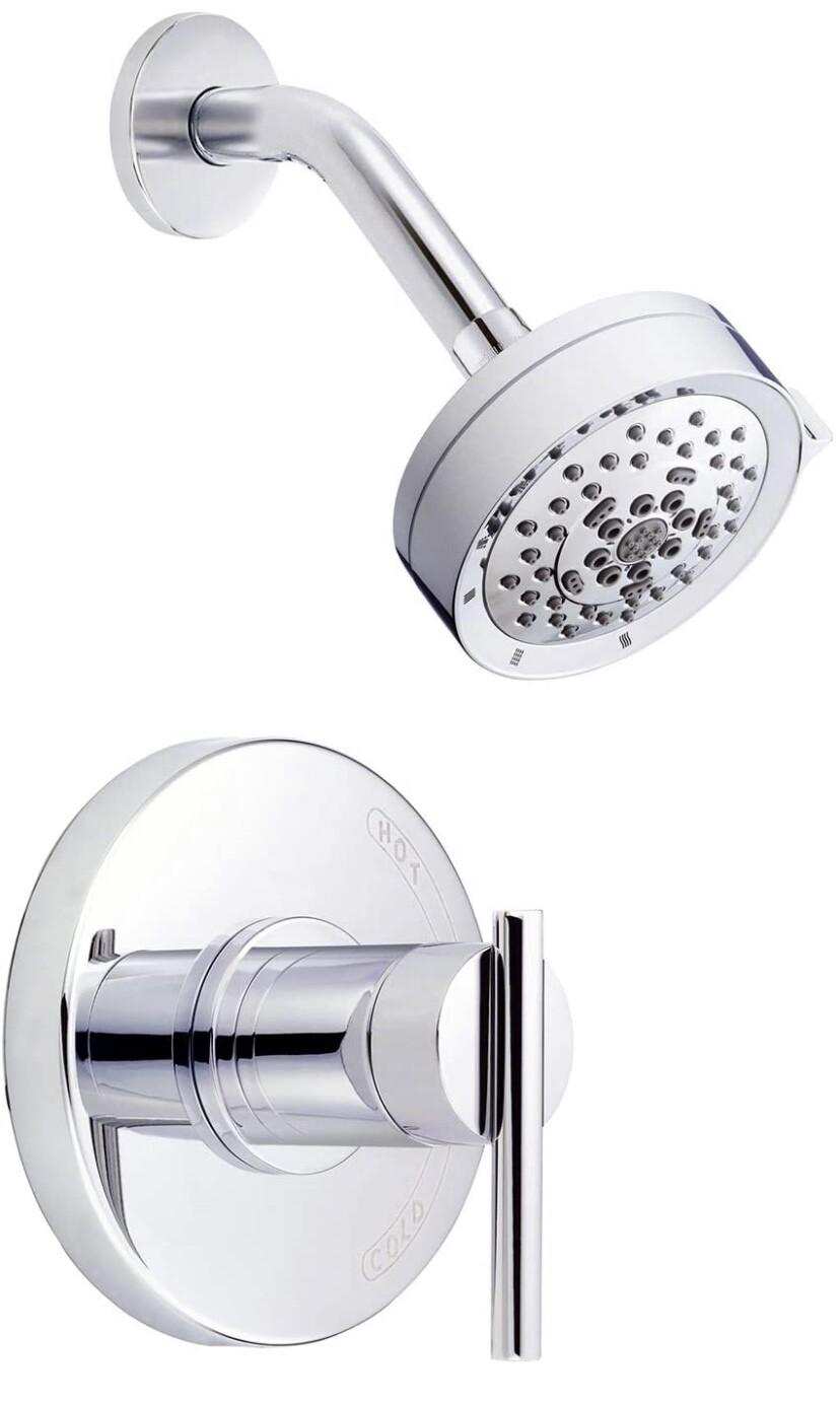 Danze D511558TC Parma 1H Shower Only Trim Kit & Treysta Cartridge w/ 5 Function Showerhead 1.75gpm Chrome