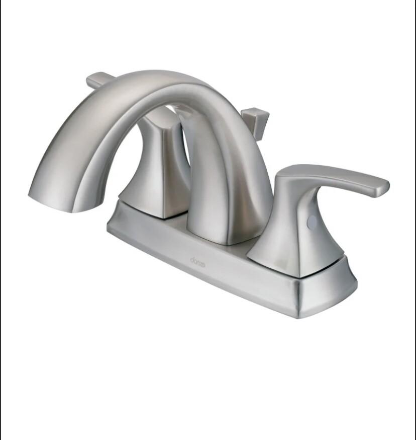 DANZE D307018BN Centerset Lavatory Faucet, Brushed Nickel