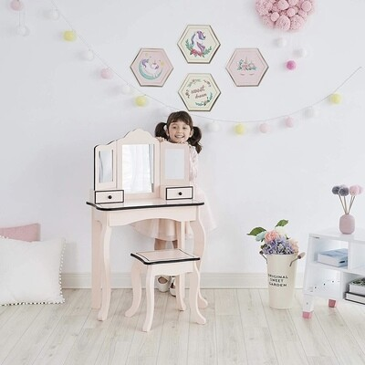 Little Lady Adriana Play Vanity Set - Pink / Black