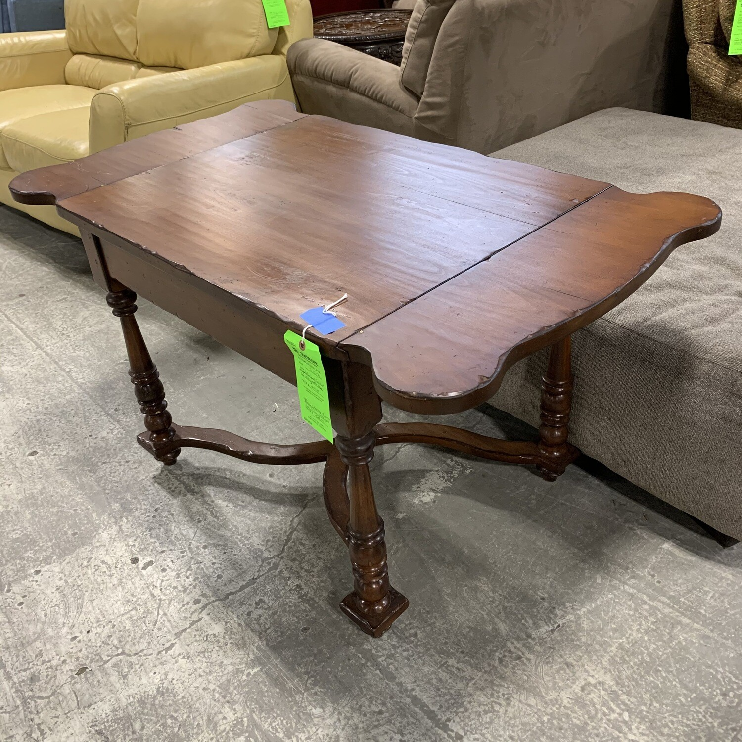 Antique Woodland Furniture Side Folding Coffee Table
