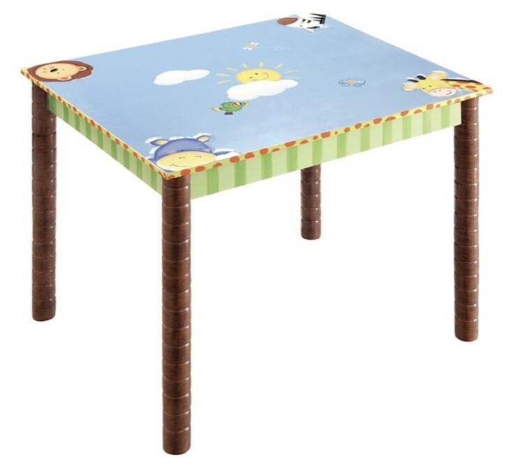 Teamson Kids Fantasy Fields Hand Painted Sunny Safari Table