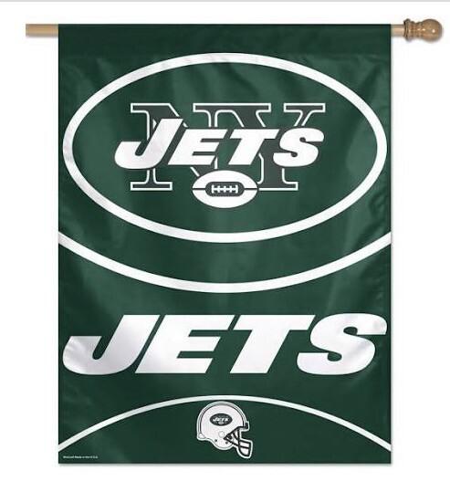 """Jets Vertical Flag 27"""" x 37"""""""