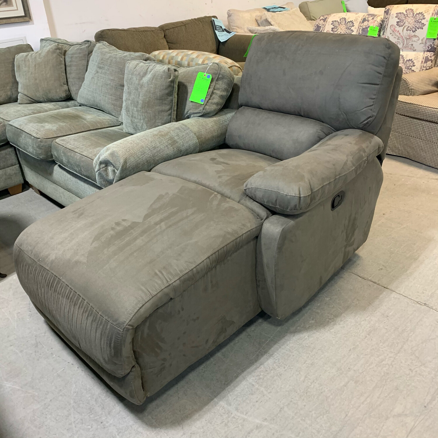 Macy's Incline Grey  Chaise (Right Arm)