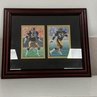 Authentic Signed Steelers Jack Lambert & Jack Ham Goal Line Art