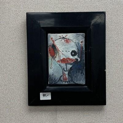 "Black Frame Wall Art 10 3/4"" x 13"""