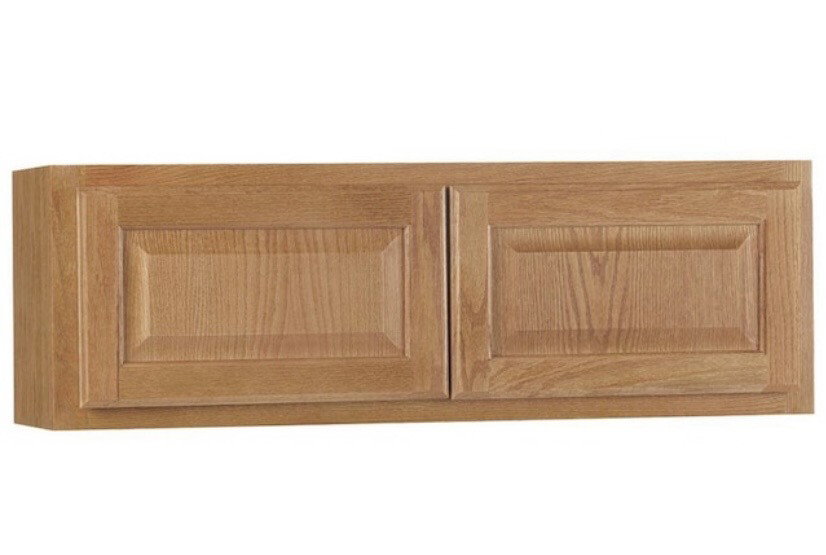 Hampton Bay Assembled  Wall Bridge Kitchen Cabinet in Medium Oak