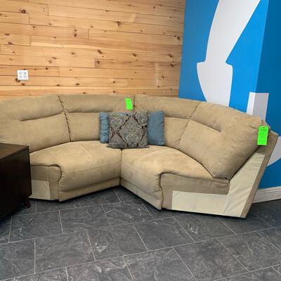Macy's Wedge Sofa Sectional Piece (Beige)