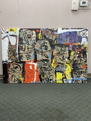 "67"" x 43"" Abstract Wall Art"