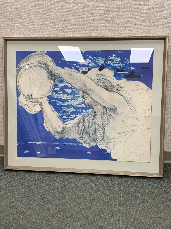 """48"""" x 40"""" Framed Art Work"""