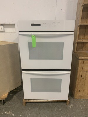 White Thermador Double Oven