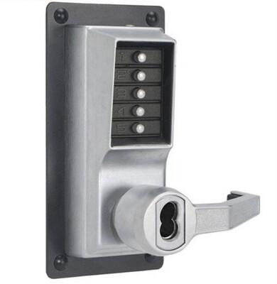 Kaba Simplex Satin Chrome Mechanical Push button With  Trim LRP1020B