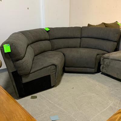 Macy's Wedge Sofa Sectional Piece (Stone Grey)