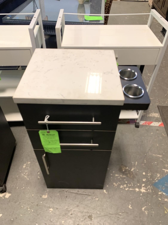 Slim Salon Dresser With Marble Top