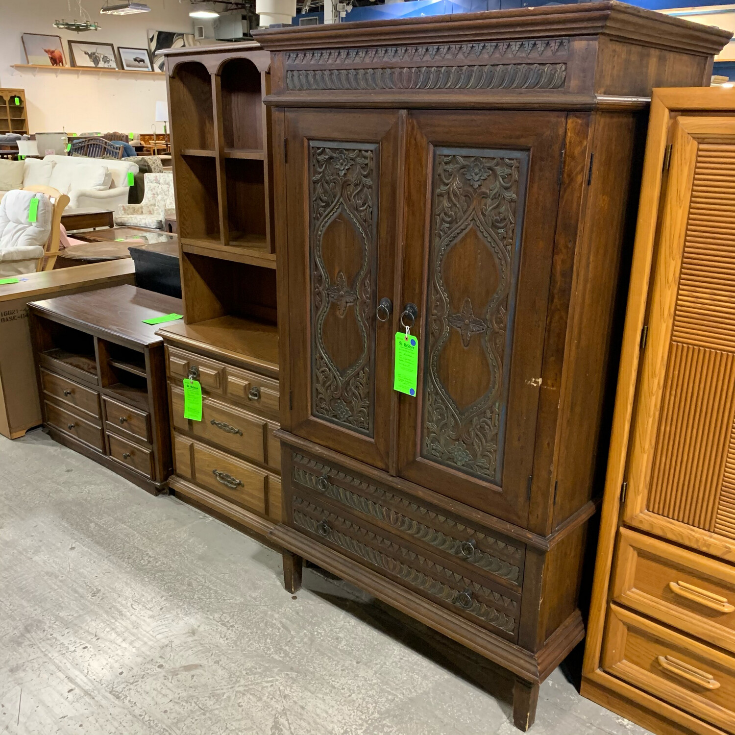 Pier 1 Carved Wooden Armoire