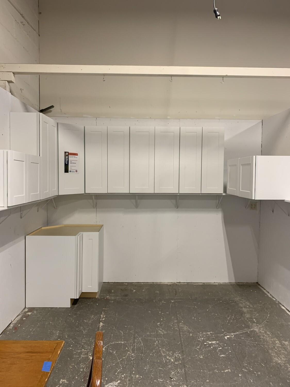 White Shaker Style Cabinet Set