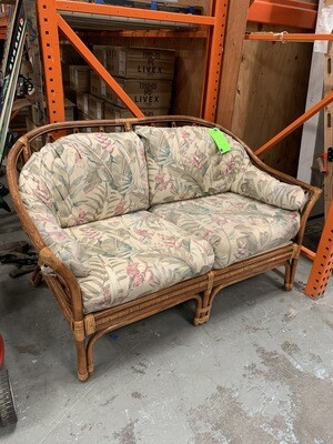 Hand Crafted Wooden Love Seat