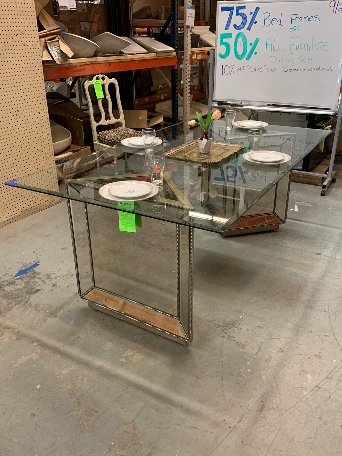 Basset Mirror Murano Dining Table(NO CHAIRS)