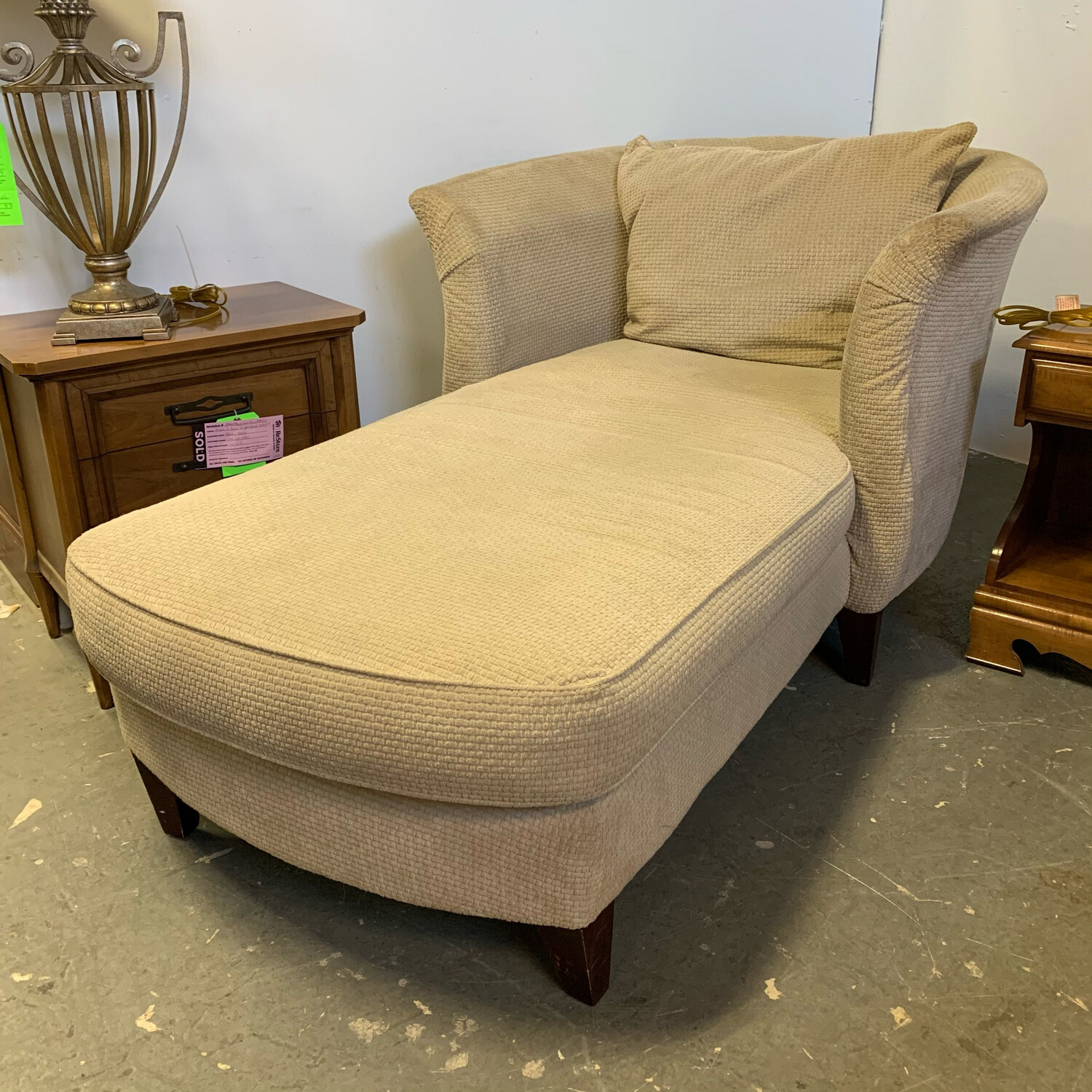 Klaussner Cream Lounge Couch
