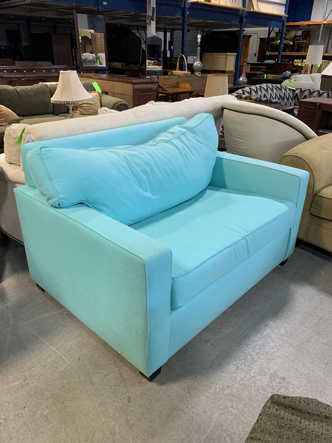 Light Blue Pullout Couch