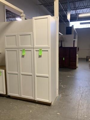 """18"""" x 90"""" x 25"""" Deep White 2 Door Pantry Cabinet"""