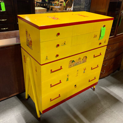 Yellow 6 Drawer Dresser